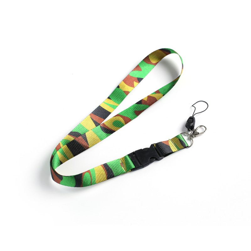 Camouflage Camo Lanyard Neck Strap for ID Card Badge Holder