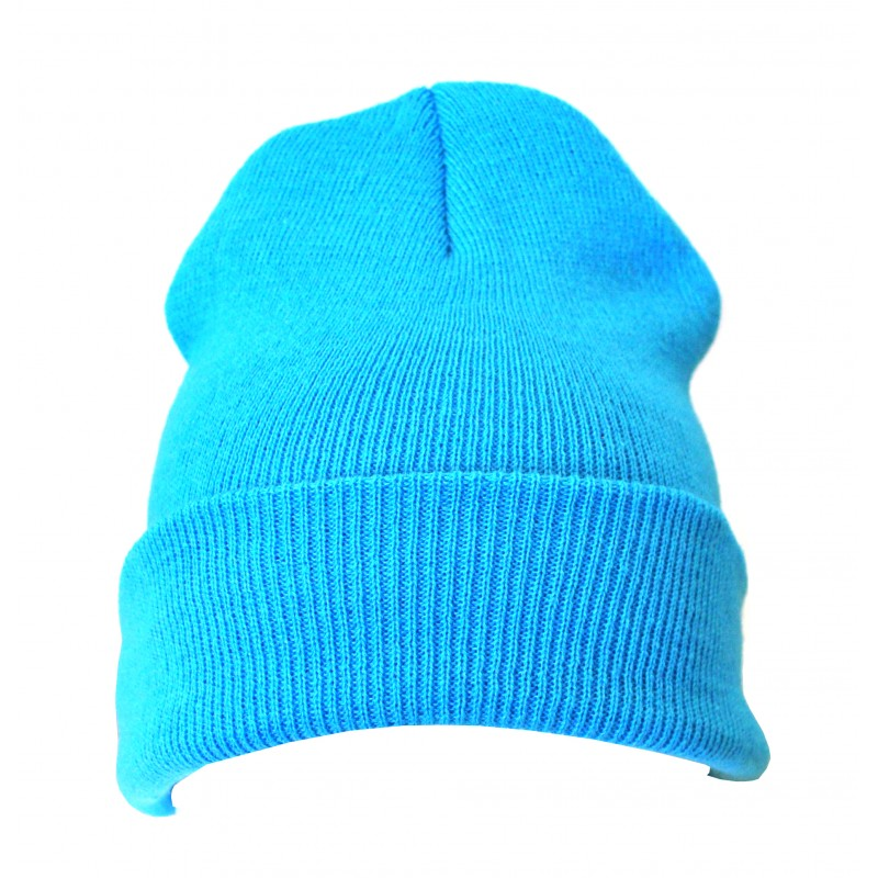 Plain Baby Blue Casual Warm Winter Beanie Hat (Pack of 1)