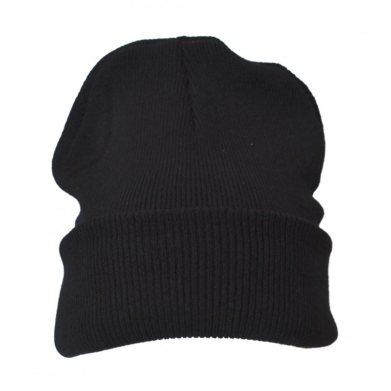 Plain Black Casual Warm Winter Beanie Hat (Pack of 1)