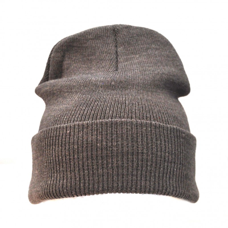 Plain Grey Casual Warm Winter Beanie Hat (Pack of 1)