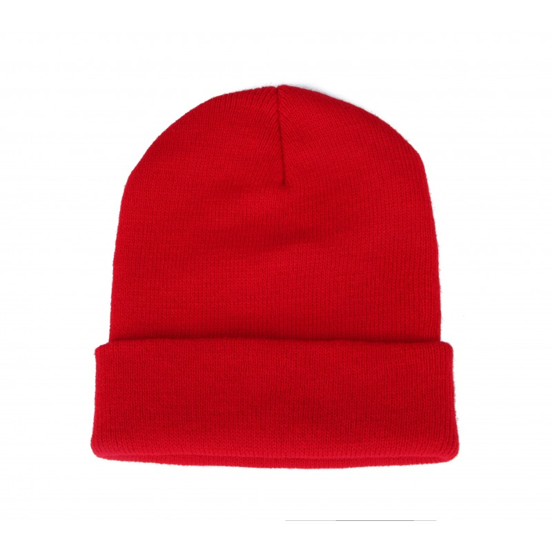 Plain Red Casual Warm Winter Beanie Hat (Pack of 1)