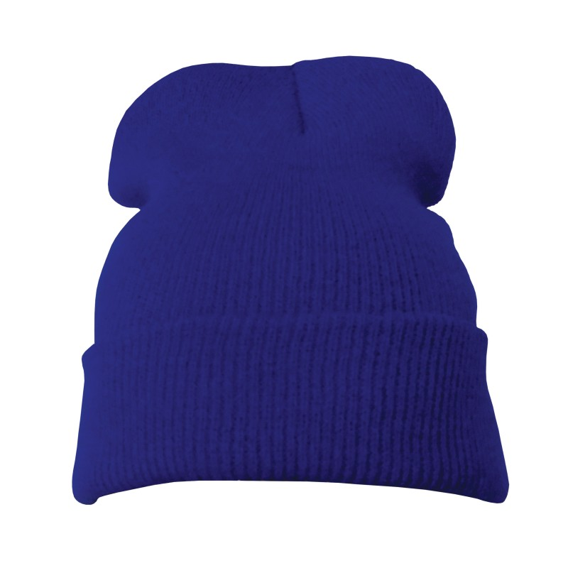 Plain Steel Blue Casual Warm Winter Beanie Hat (Pack of 1)