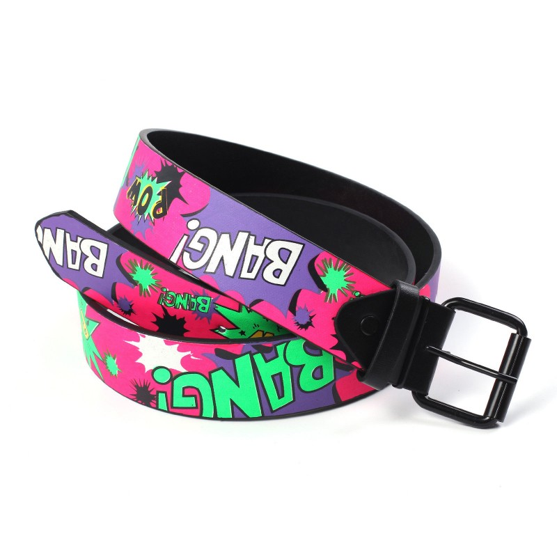 New Cartoon Comic Style Bang! Pow! Unisex Belt 39