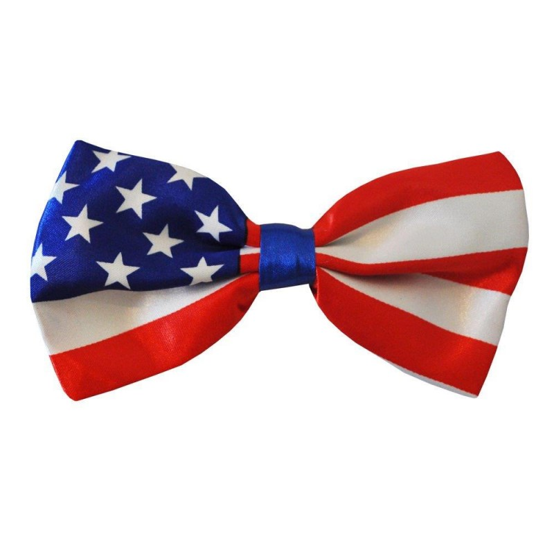 USA America Stars and Stripes Pre-Tied Bow Tie
