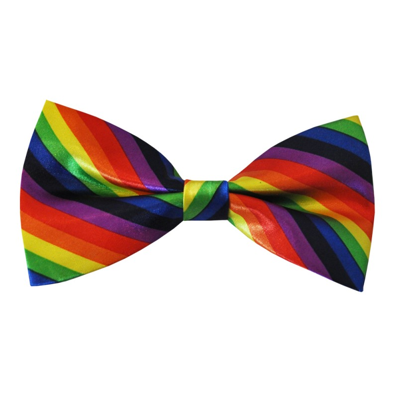 Rainbow Colourful Pre-Tied Bow Tie