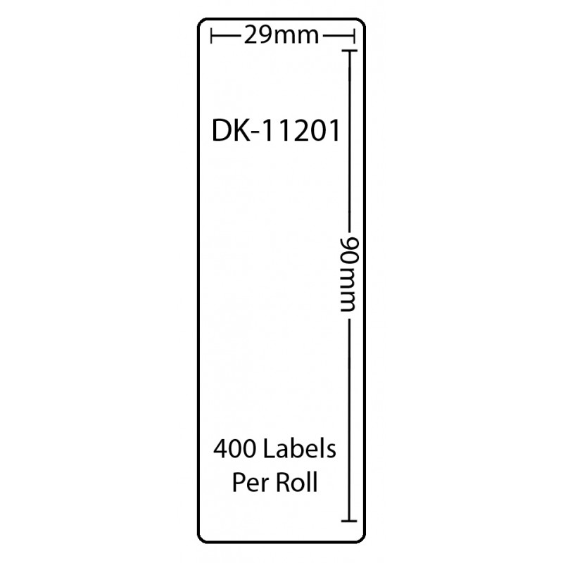 Compatible Brother White Address Labels DK-11201 29mm x 90mm (Pack Of 1)
