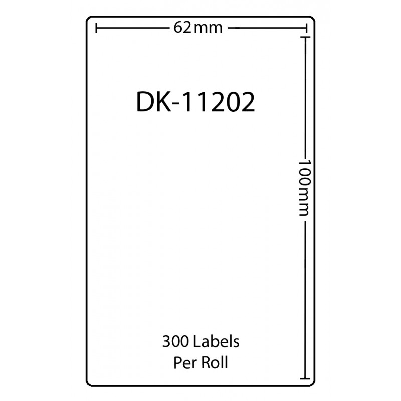 Compatible Brother White Address Labels DK-11202 62mm x 100mm (Pack Of 3)