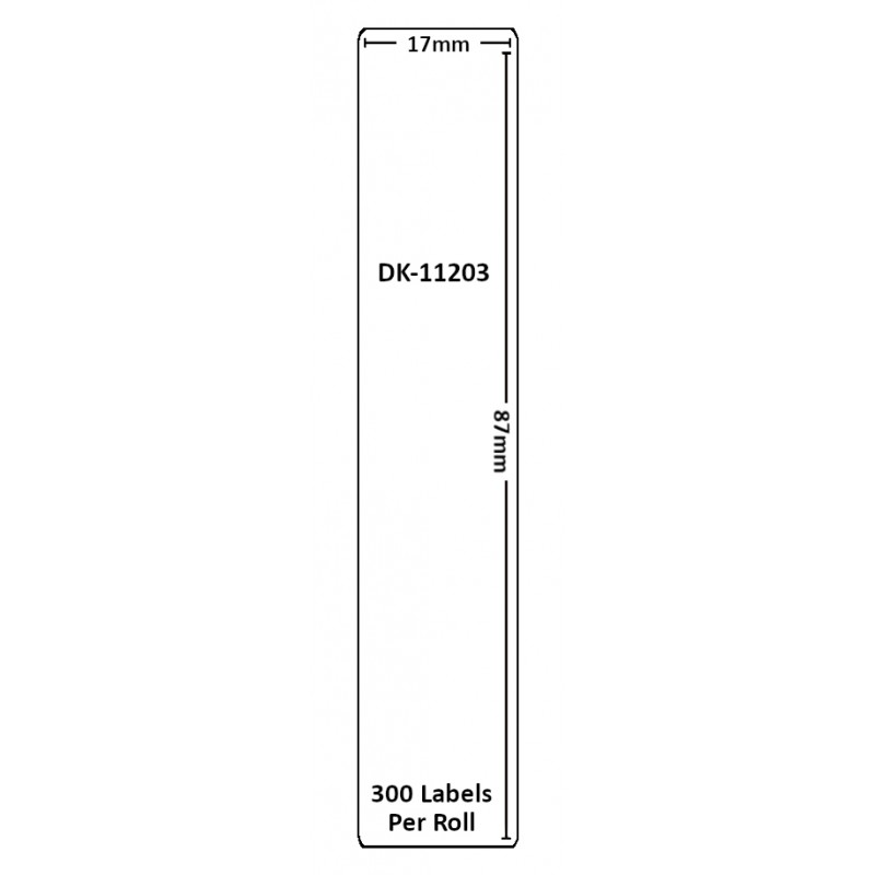 Compatible Brother White Address Labels DK-11203 17mm x 87mm (Pack Of 10)
