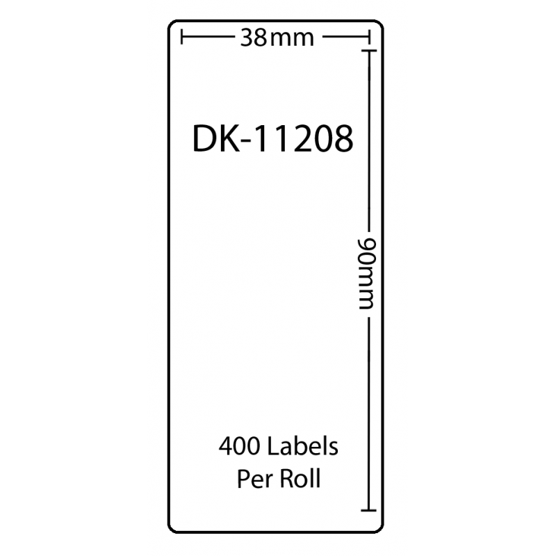 Compatible Brother White Address Labels DK-11208 29mm x 62mm (Pack Of 10)