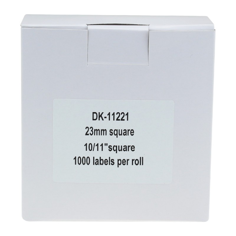 Compatible Brother White Address Labels DK-11221 23mm x 23mm (Pack Of 5)