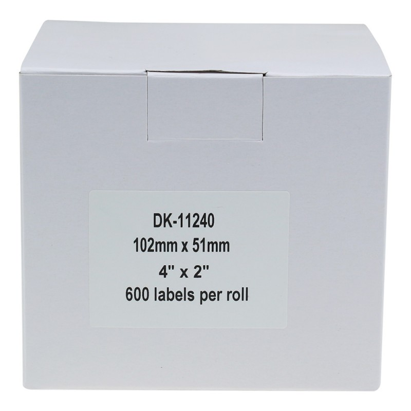 Compatible Brother White Address Labels DK-11240 102mm x 51mm (Pack Of 2)