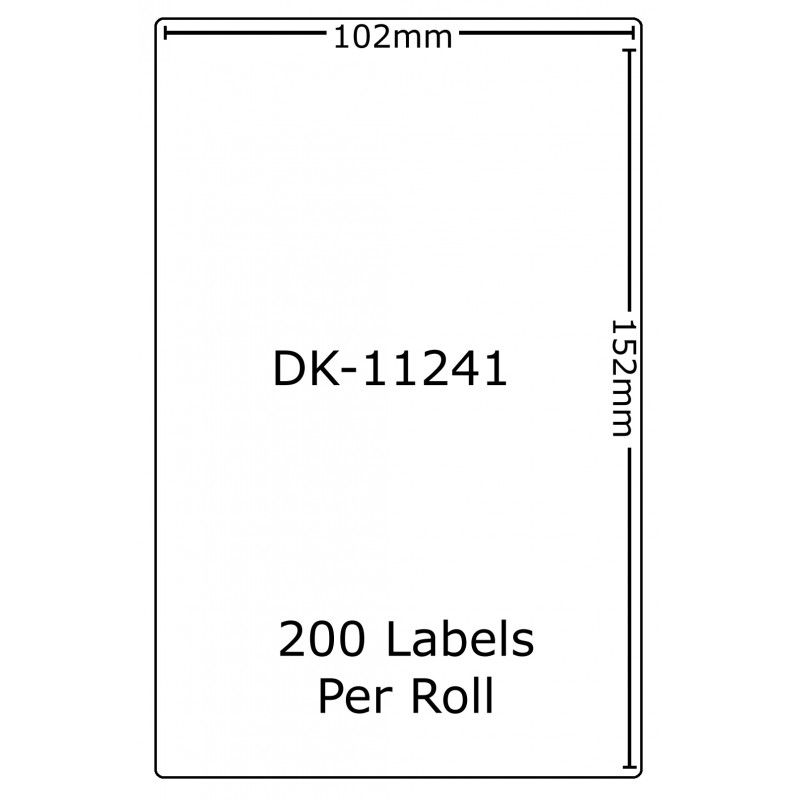 Compatible Brother White Address Labels DK-11241 102mm x 152mm (Pack Of 5)