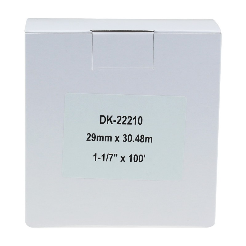Compatible Brother White Address Labels DK-22210 29mm x 30.48m (Pack Of 3)