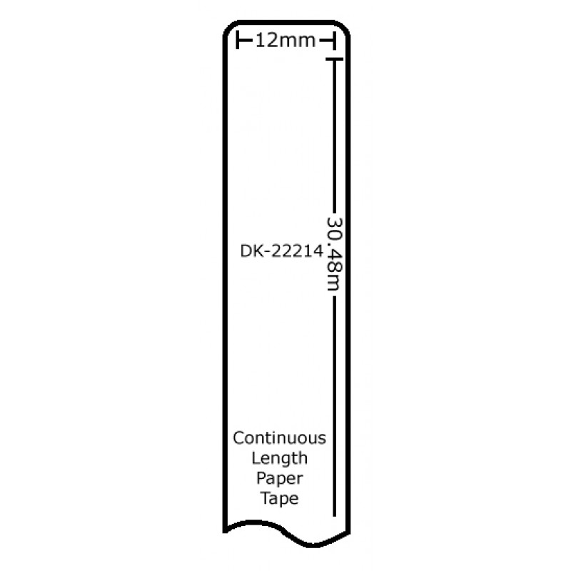 Compatible Brother White Address Labels DK-22214 12mm x 30.48m (Pack Of 10)