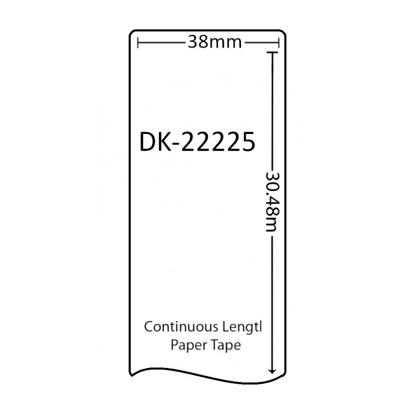 Compatible Brother White Address Labels DK-22225 38mm x 30.48m (Pack Of 10)