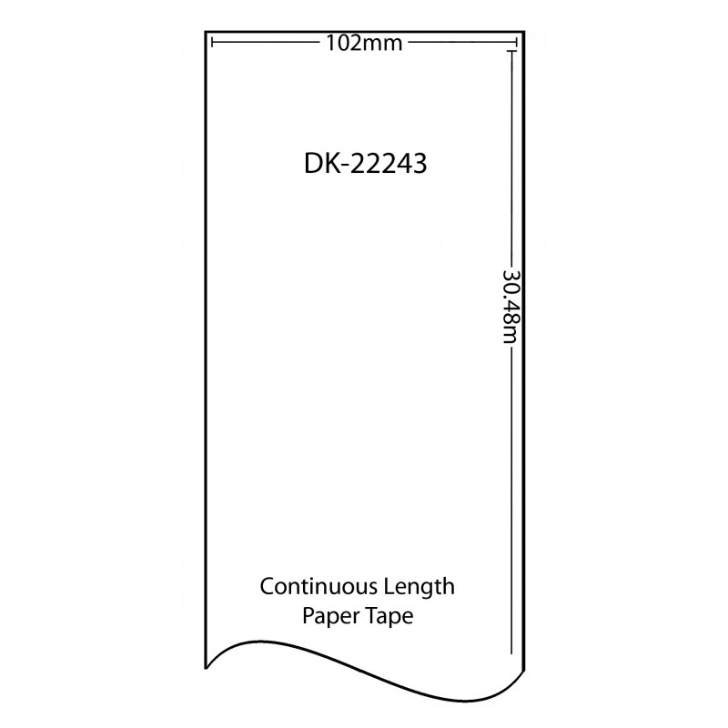 Compatible Brother White Address Labels DK-22243 102mm x 30.48m (Pack Of 2)