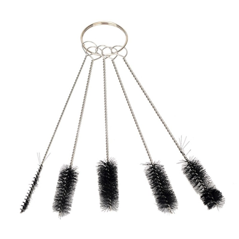 5pcs Tattoo Needle Mouth Spray Gun Airbrush Body Piercing Tool Cleaning Brush Set