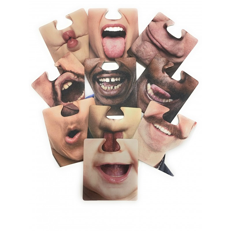 Komonee Coaster Face Drinking Mats You Can Wear Funny Novelty Family Fun Game