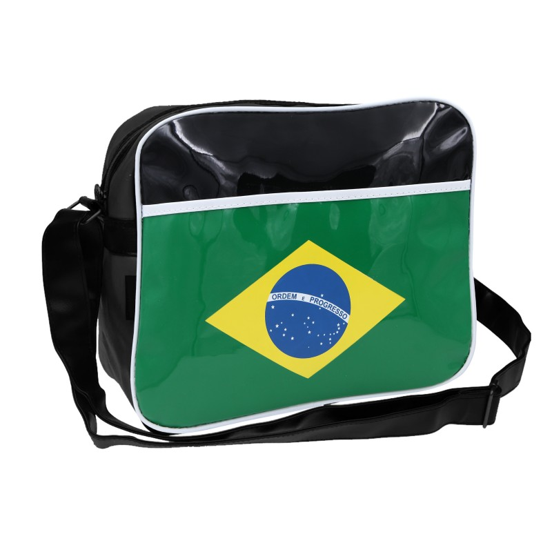 Country Flags Postman School Laptop Carry Shoulder Bag Brazil