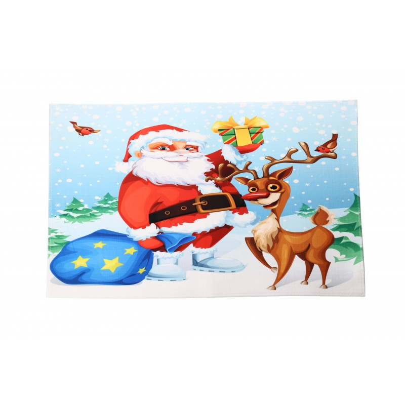 Christmas Themed Xmas Welcome Doormats Paddling Santa