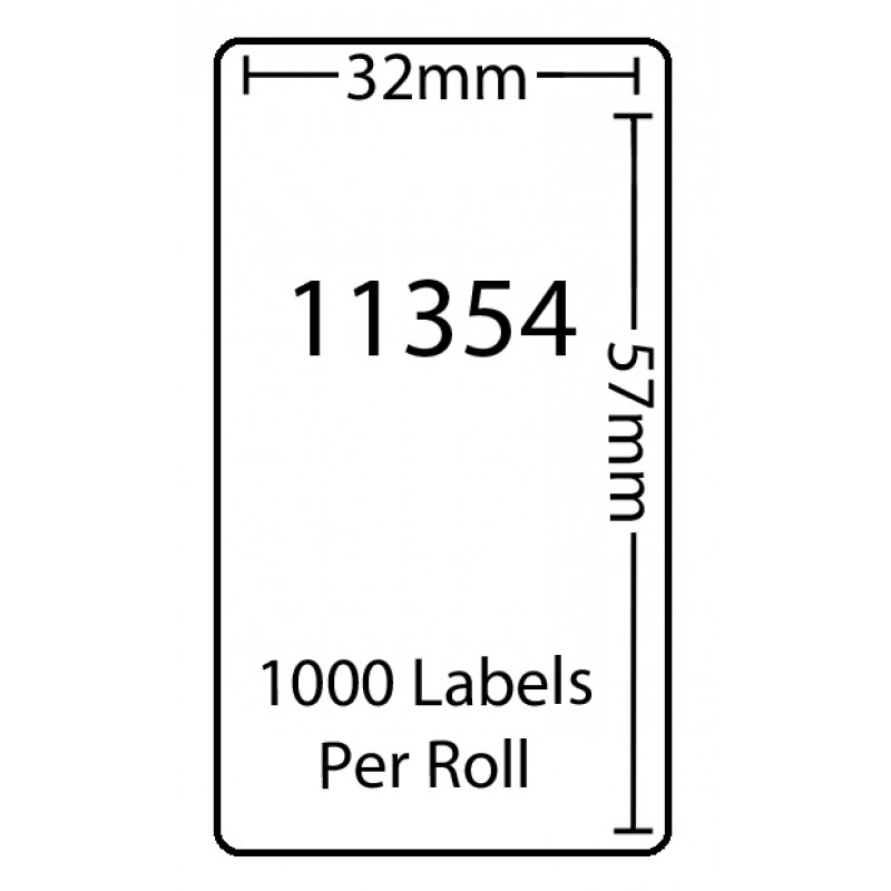 Dymo 11354 Compatible Thermal White Address Labels (Pack of 100)