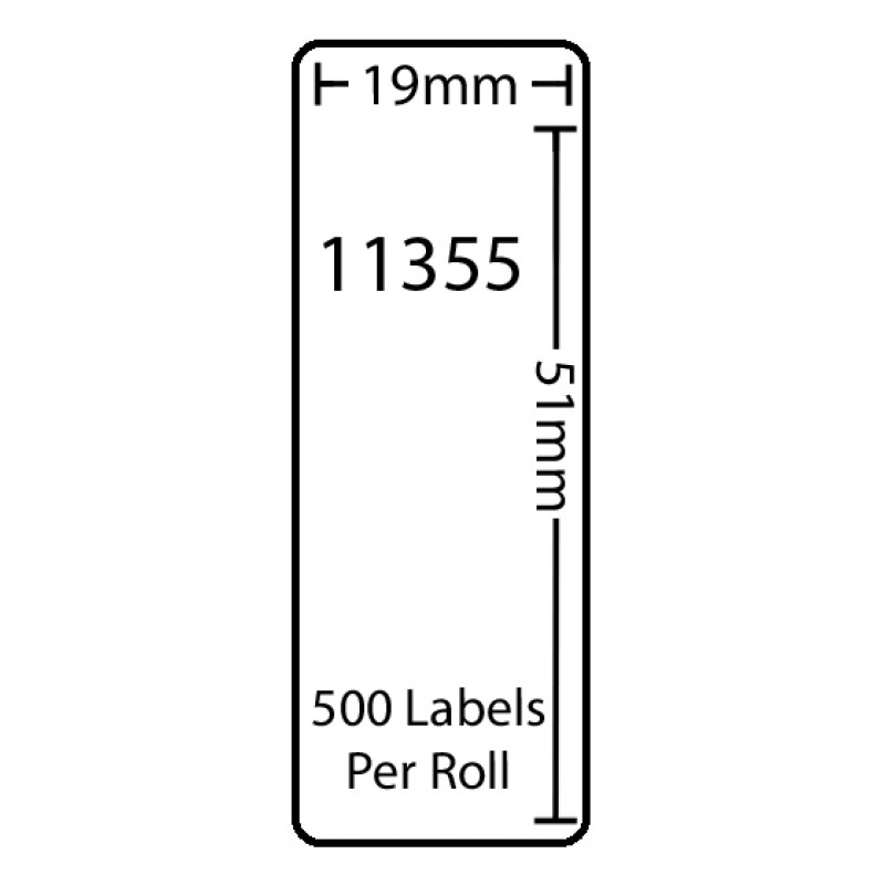 Dymo 11355 Compatible Thermal White Address Labels (Pack of 50)