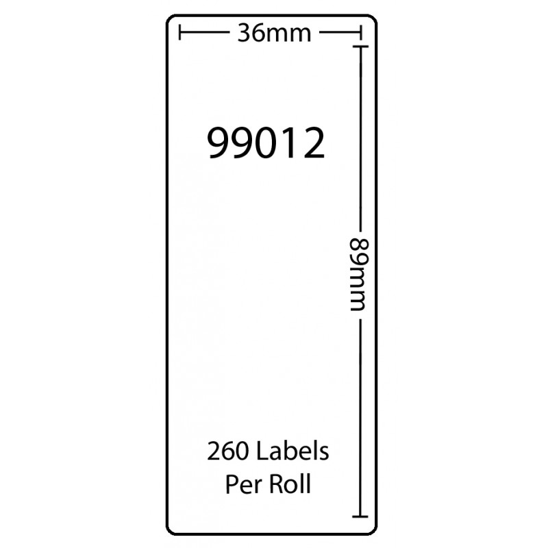 Dymo 99012 Compatible Thermal White Address Labels (Pack of 100)