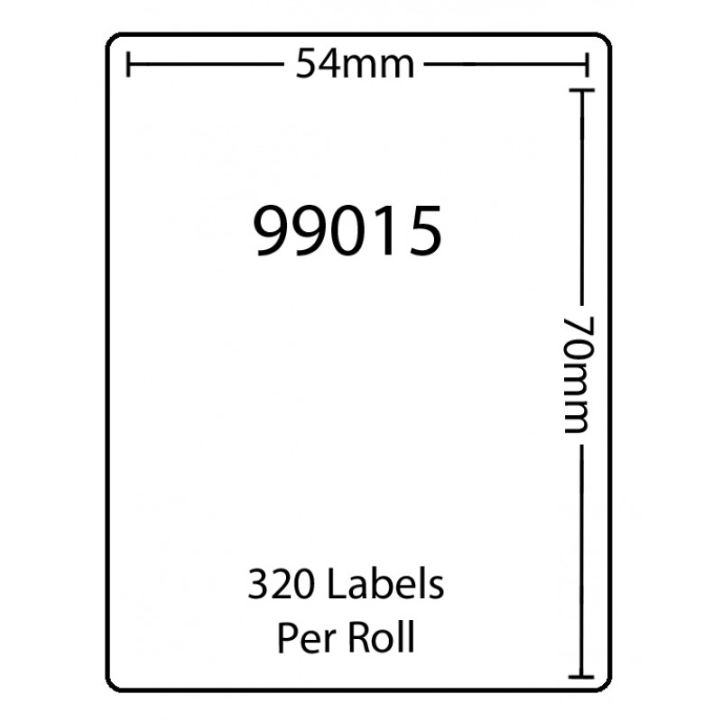 Dymo 99015 Compatible Thermal White Address Labels (Pack of 50)