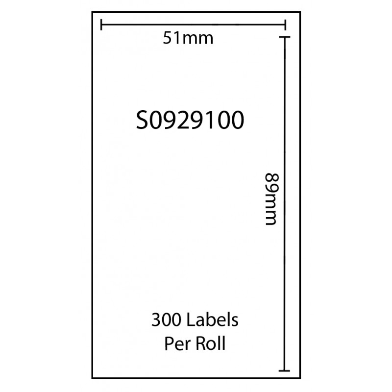 Dymo SO929100 Compatible Thermal White Address Labels (Pack of 1)