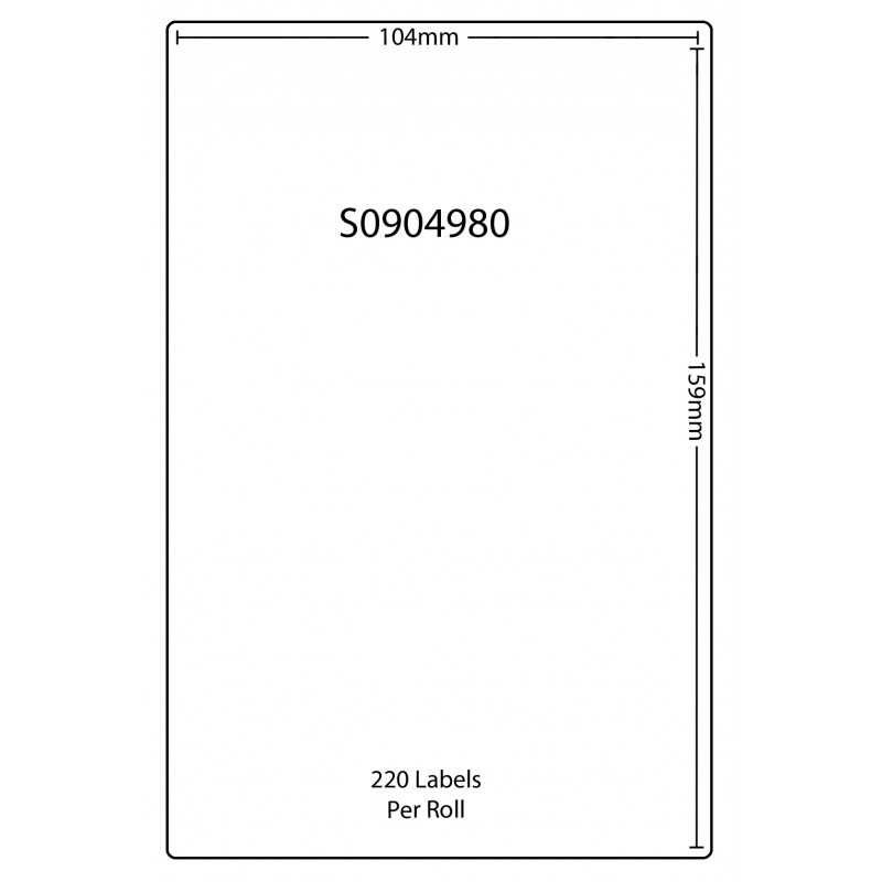 Dymo SO904980 Compatible Thermal White Address Labels (Pack of 100)
