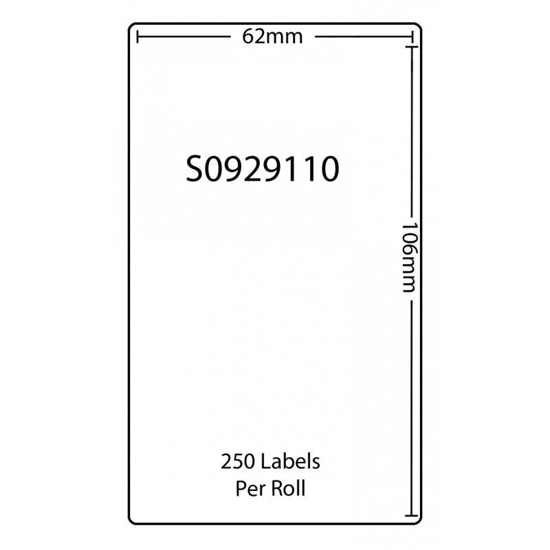 Dymo SO929110 Compatible Thermal White Address Labels (Pack of 100)