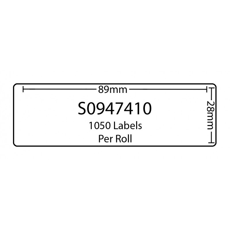 Dymo SO947410 Compatible Thermal White Address Labels (Pack of 50)