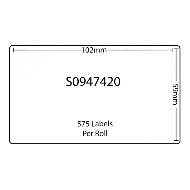 Dymo SO947420 Compatible Thermal White Address Labels (Pack of 20)