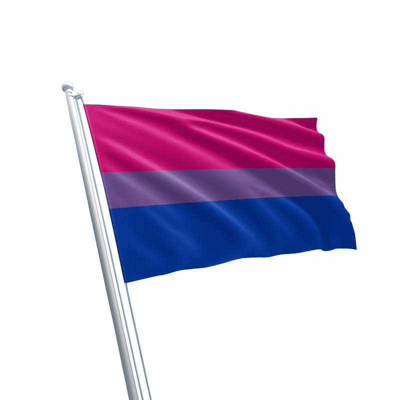 Large Bisexual LGBT Gay Pride Rainbow Flag (90cm x 150cm)