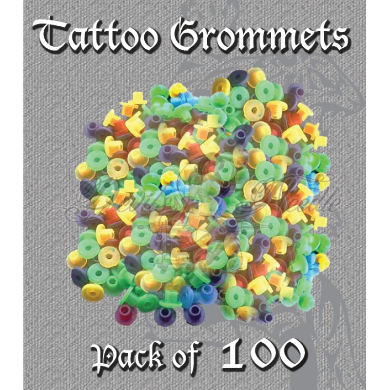Mixed Colour Tattoo Top Hat Grommets (Pack Of 100)