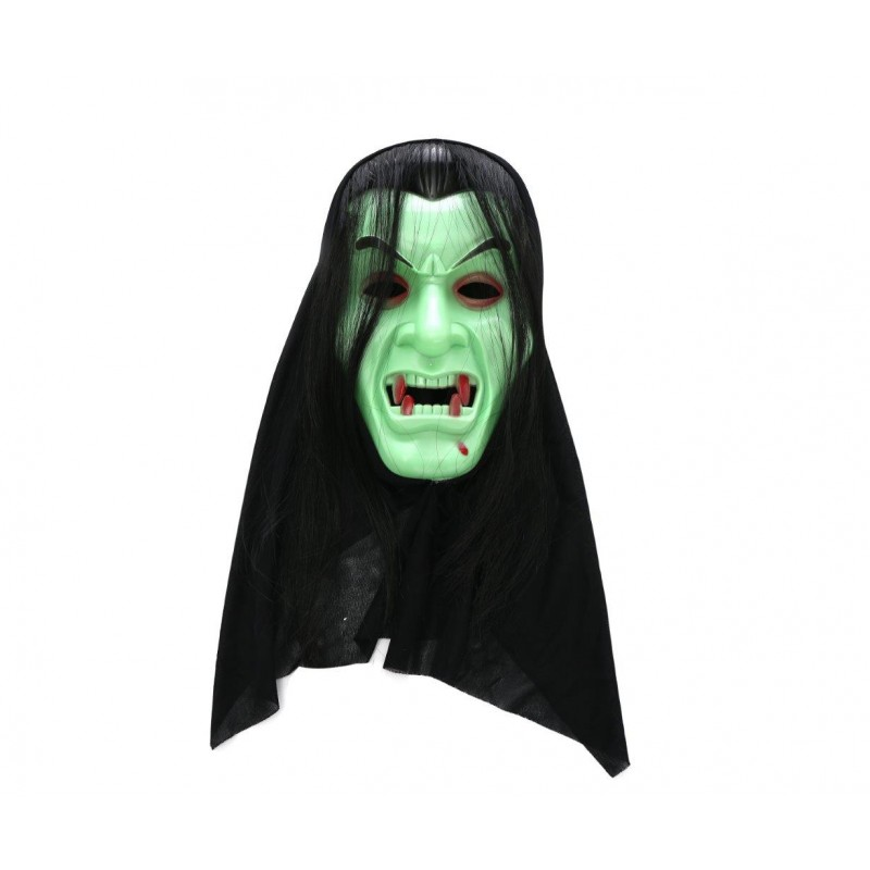 Dracula Vampire Green Adult Costume Halloween Mask (HM1)