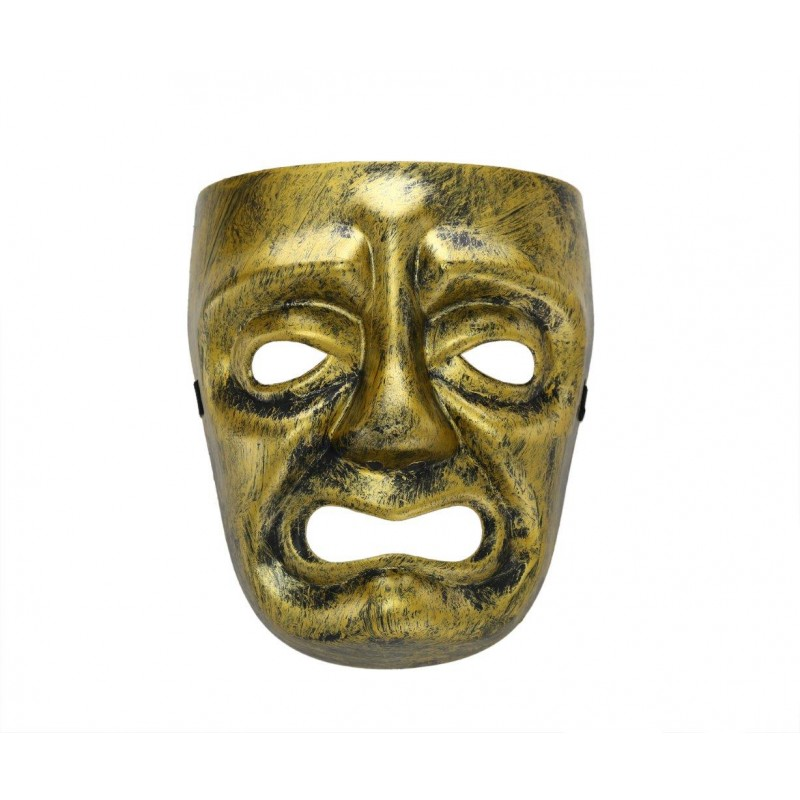 Spooky Face Gold Costume Halloween Mask (HM15)