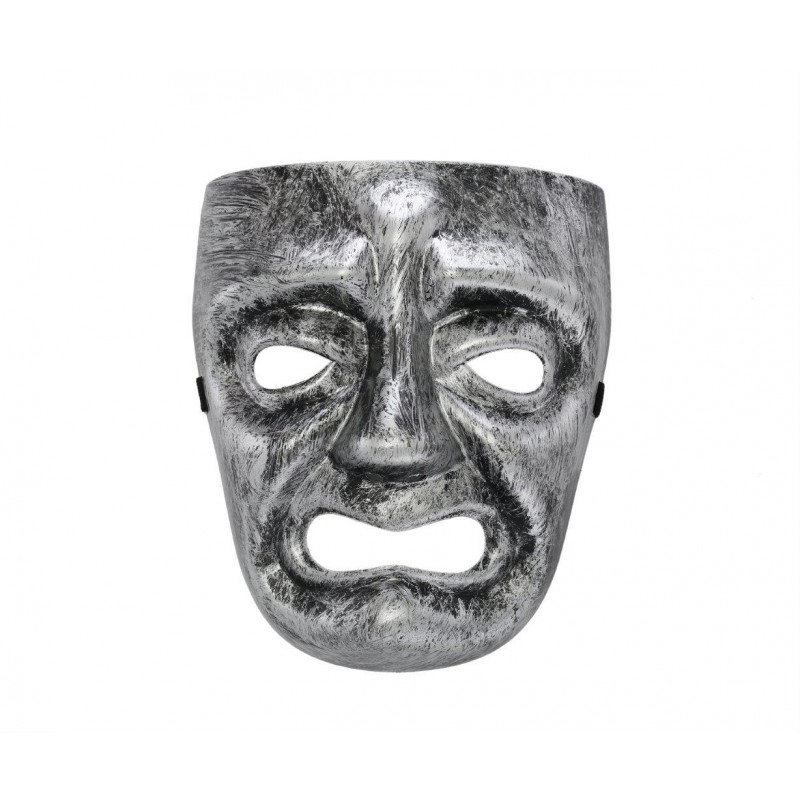 Spooky Face Silver Costume Halloween Mask (HM16)