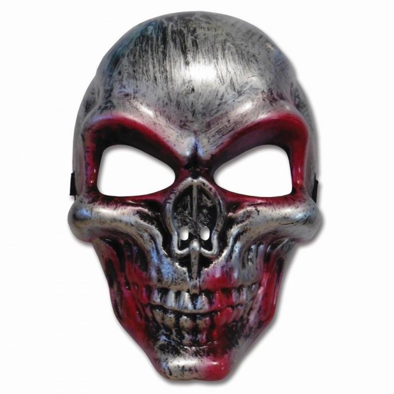Silver Bloody Skull Adult Costume Halloween Mask (HM17)
