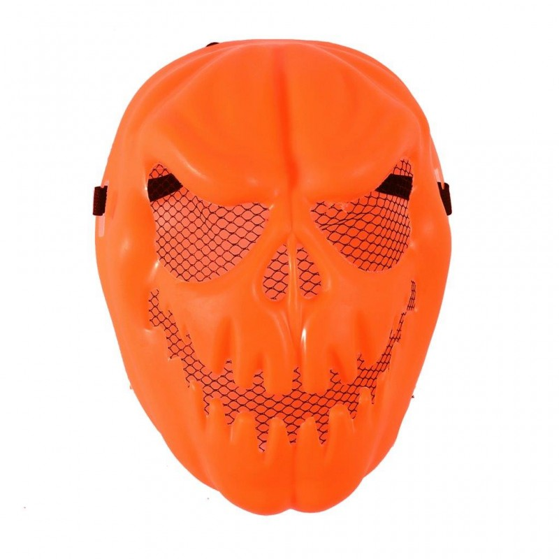 Pumpkin Head Adult Orange Halloween Mask (HM20)