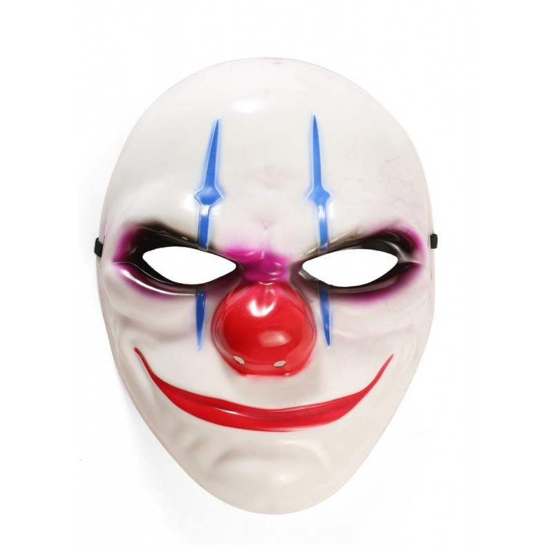 Clown Adult White Costume Halloween Mask (HM21)
