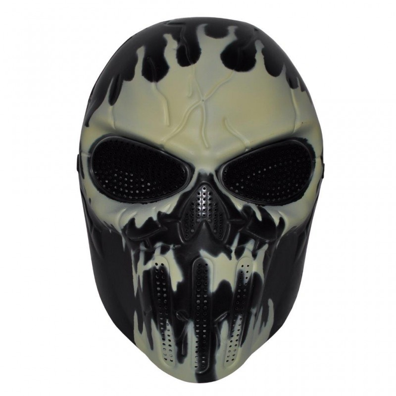 Dark Skeleton Full Face Hockey Halloween Mask (HM28)