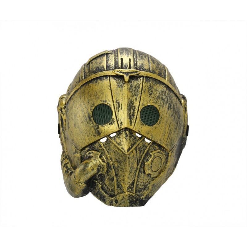 Steampunk Cyborg Gold Adult Costume Halloween Mask (HM3)