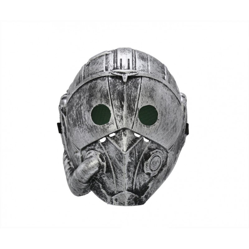 Steampunk Cyborg Grey Adult Costume Halloween Mask (HM4)