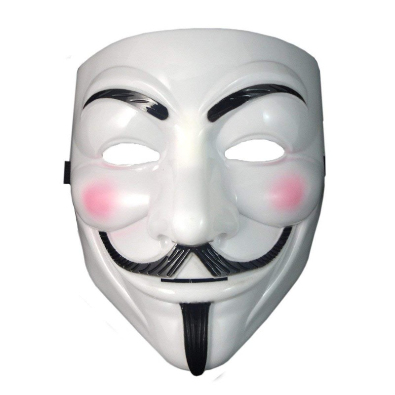V For Vendetta Adult Costume Halloween Mask (Pack Of 1) (HM24)