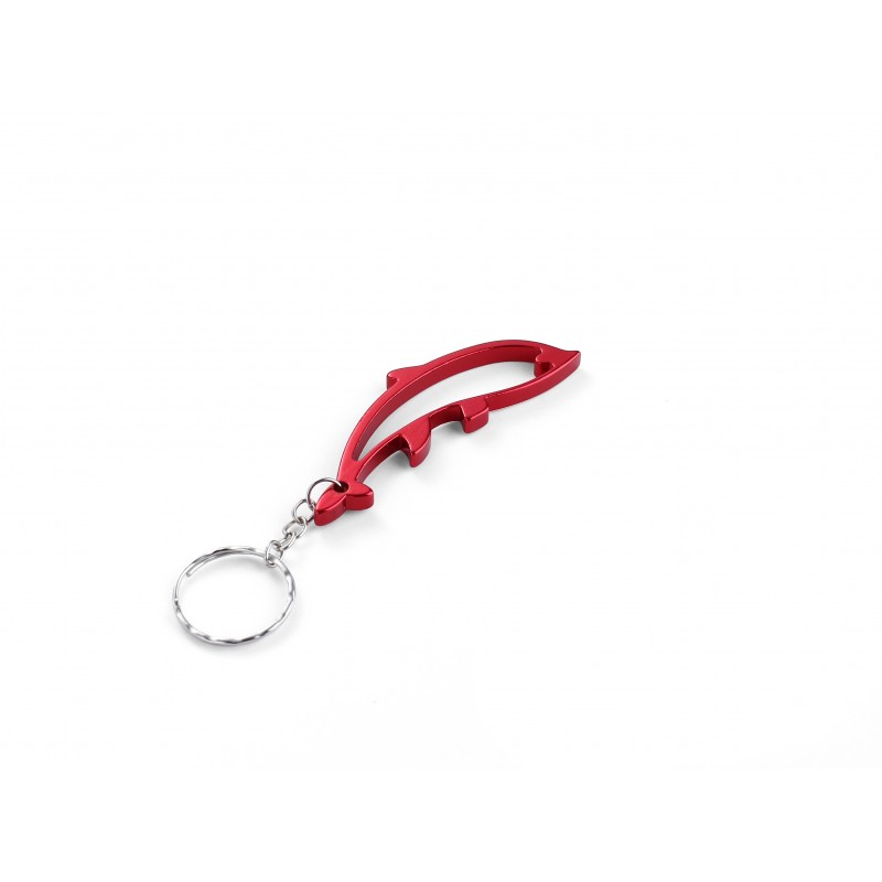 Dolphin Red Bottle Opener Keyring
