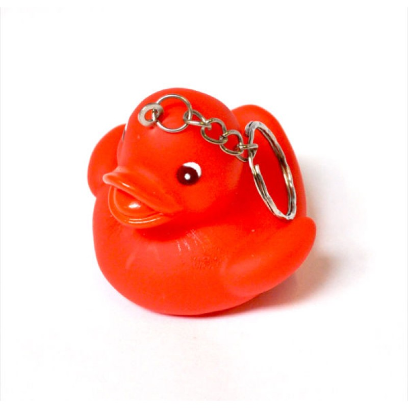 Duck Novelty Keyring Keychain Red