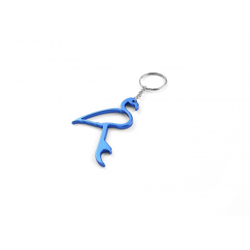 Flamingo Blue Bottle Opener Keyring