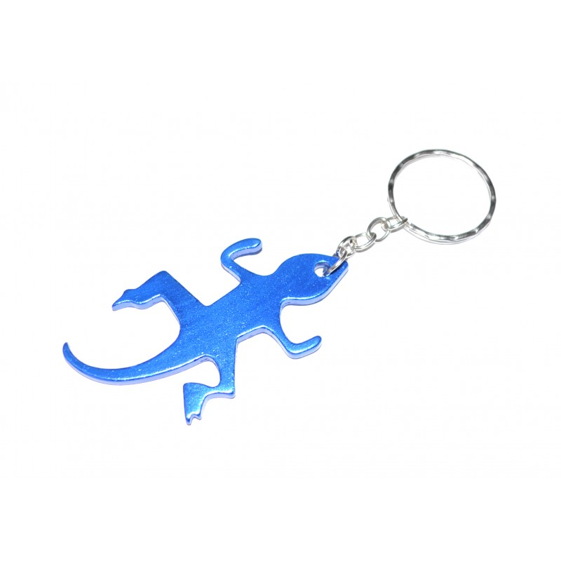 Lizard Blue Bottle Opener Keyring