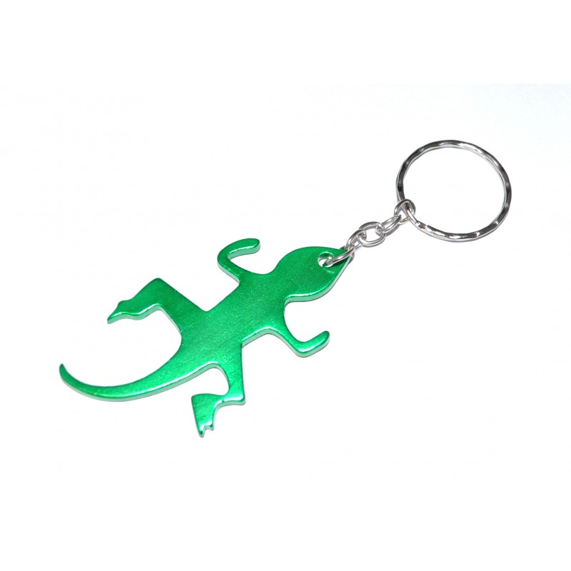 Lizard Green Bottle Opener Keyring